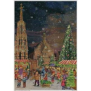 Adventskalender Nürnberg Schöner Brunnen, Papier, A3, Sellmer Verlag