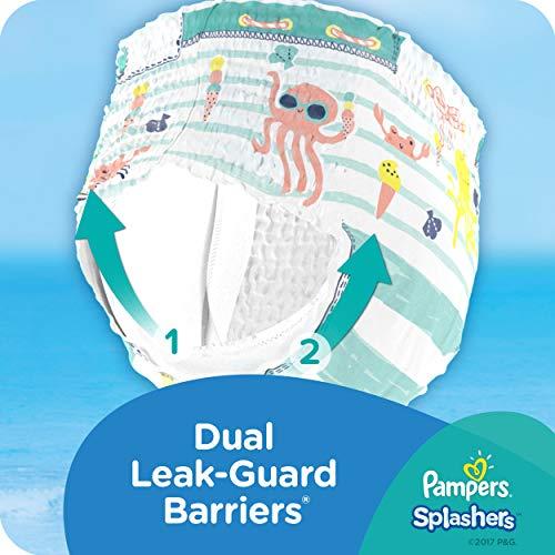 Pampers Splashers Disposable Swim Pants Diapers, Medium, (Pack of 12)
