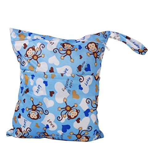 Preisvergleich Produktbild NUOLUX Waschbarer wiederverwendbare wasserdichte RV Baby Windel Windel Tasche nass trocken Stofftasche