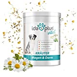 Ida Plus - Kräuter Magen & Darm Nahrungsergänzung (150 g) 100% natürlich für Hunde & Katzen, Futterergänzungsmittel für die Verdauung & Darmflora