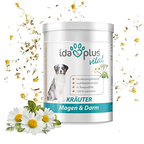 Ida Plus - Kräuter Magen & Darm Nahrungsergänzung (150 g) 100{dceb75b6ac4b98db8f96bbcff5f2f45b83e86797938b573831434cf9d94c50ea} natürlich für Hunde & Katzen, Futterergänzungsmittel für die Verdauung & Darmflora