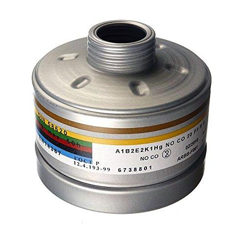 Dräger Kombinationsfilter A1B2E2K1HgNOP3RD/CO20P3RD mit DIN/EN Gewinde -