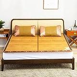 WENZHE Bambus Matratzen Sommer-Schlafmatten Strohmatte Teppiche Doppelsitze Zusammenklappbar Zuhause Schlafzimmer Multifunktion, 1,5/1,8 M (größe : 1.5×1.95m)