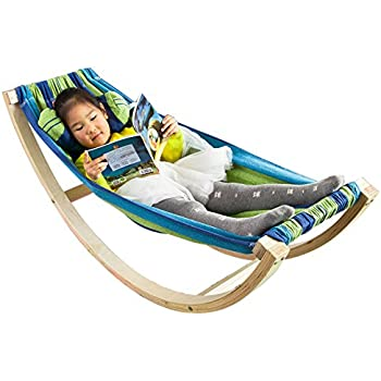 sobuy   children kids rocking hammock fst33 j poco baby natures nest motion bed hammock package   colour raw      rh   amazon co uk