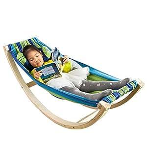 sobuy children kids rocking hammock fst33 j kitchen home. Black Bedroom Furniture Sets. Home Design Ideas