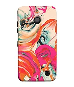 PrintVisa Designer Back Case Cover for Microsoft Lumia 550 (Watercolor Backdrop Marbling Pattern Acrylic Dynamic Beautiful Fantasy)