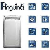 De'Longhi Pinguino PAC N82 ECO Silent - mobiles Klimagerät mit Abluftschlauch, leise Klimaanlage für Räume bis 80 m³, Luftentfeuchter, Ventilationsfunktion, 12h-Timer, 2,4 kW, 75 x 45 x 39,5 cm, weiß - 8