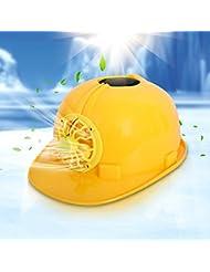 Bazaar Casque de sécurité solaire ventiler dur chapeau avec ventilateur de refroidissement fraîche