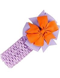 Stirnbaender - SODIAL(R)Stirnbaender Bowknot Haar Accessoires Maedchen Kleinkind Haarband (lila)