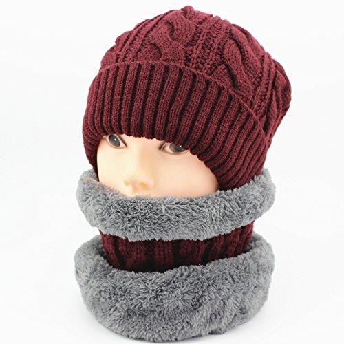 Sciarpa uomini inverno lana cashmere sciarpe ladies ' maglia di lana a cavallo del vento e spesse collare termico,vino collare rosso due pezzi