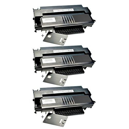 3 Toner für Oki MB260 01240001 Black - Schwarz je 5.500 Seiten, kompatibel zu 01240001