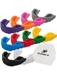 Suddora–Protector bucal, protección de seguridad para deportes, incluye caja con ranuras de ventilación, blanco