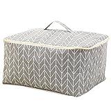 1X Toruiwa Aufbewahrungstasche Reißverschluss Box Decke Bag Trage Tasche für Bettzeug Matratzenauflagen Decken Bettdecken und Kissen (Grau)
