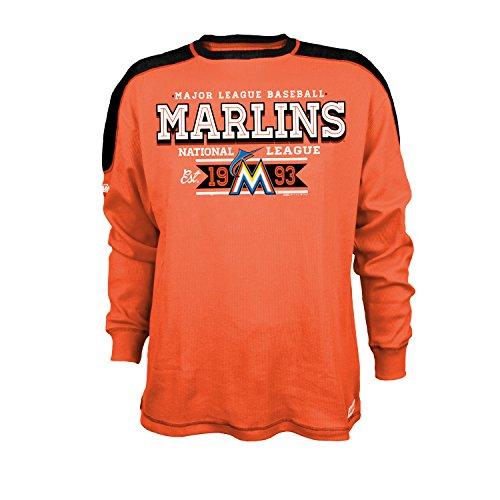 MLB Herren CVC Thermal Long Sleeve Crewneck Top, Orange, X-Large - Crewneck Long Sleeve Top