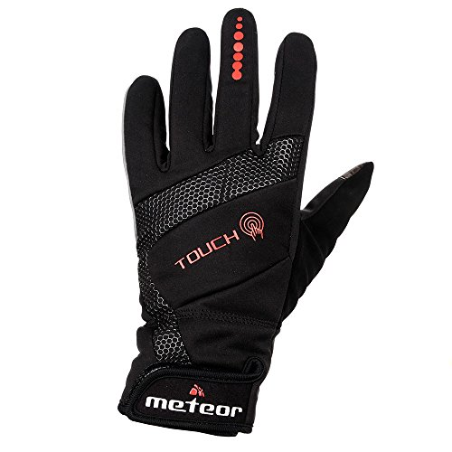 meteor® WX800 Prämie GEL RADHANDSCHUHE, VOLL WINTERHANDSCHUHE für Radsport MTB Road Race Downhill Wandern und andere Sports unisex Touchscreen GEL Handschuhe (XL) (Alpinestars Gummi Hat)