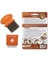 3-in-1 Läusekamm, Original Lausinator Läusekamm gegen Läuse und Nissen mit integrierter Lupe, Hülle und Bürste für Kinder und Erwachsene.