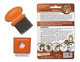 3-in-1 Läusekamm, Original Lausinator Läusekamm gegen Läuse und Nissen mit integrierter Lupe, Hülle und Bürste für Kinder und Erwachsene. -