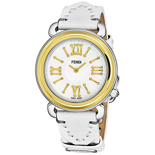 Fendi Women's Selleria 35mm Leather Band Swiss Quartz Watch F8011345H0.PS04