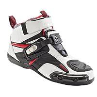 Joe Rocket الذرة رجالي ركوب الدراجات النارية الحذاء/حذاء, 9 D(M) US, White/Red