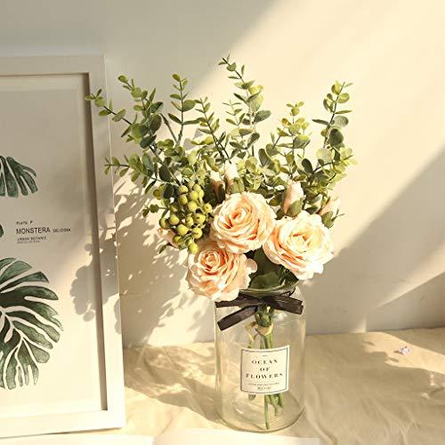 Dkings INS Stil Ugali Rose Bouquet Simulation Blumenreihe Rose Hortesien Blumen Bouquet Bund Haus Hochzeit Party Geschenk Dekor