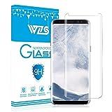 Protector de pantalla Galaxy S8, WZS® Cristal Vidrio Templado Premium Para Samsung Galaxy S8