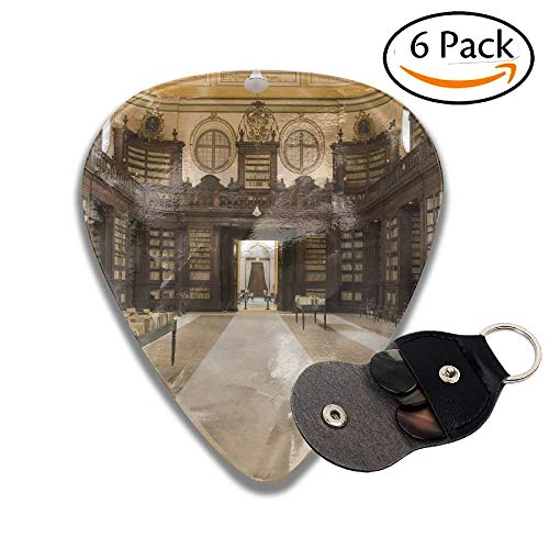 Wxf Anscient Ursino Library Of Rare Books Catania Sicily Italy Stylish Celluloid Guitar Picks Plectrums For Guitar Bass 6 Pack.46mm - Bass Guitar Pack