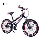 Kinderfahrräder Mountainbikes BMX Scheibenbremse,1 Geschwindigkeit,16In,18In,20 Zoll,Rot Blau Orange Grün,Red,16In
