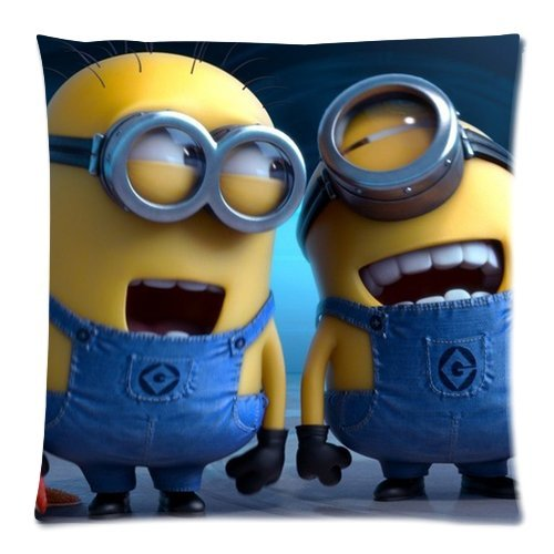 DiyCaseStore Funny Cute Despicable Me Minions Pillowcases Covers Standard Size 18x18 (Twin sides)