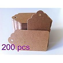 Etiquetas LCCK grandes en papel kraft en blanco, utilizables como papel kraft para grafiti - 200 piezas - Ideal para manualidades DIY.
