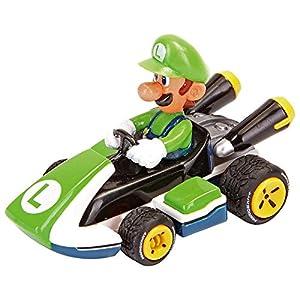Mario Kart- Nintendo Figura Pull Speed Luigi, (Carrera 9003150193166)
