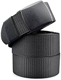 Cinturón Nylon Hombre Militar Táctico Policia Negro Unisex Cinturónes Ocasional Todo-Fósforo Correa Hombres Cinturón Lona Tela 130cm Largo