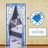 Velcro Magnetische Fliegengitter,Mesh Moskitonetz zum aufhängen Tür Sommer Für Home Schlafzimmer Küche Markt Hohe denisity Abgeschnitten Winddicht-H 120x240cm(47x94inch)