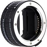 Andoer® Macro AF Enfoque Automático Tubo de Extensión DG Kit de 16mm 10mm Anillo Soporte de Montaje de Metal Marco Completo para Sony E-mout NEX NEX-6 A7R A3000 (Plata)