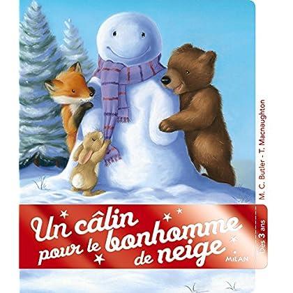 Un câlin pour le bonhomme de neige