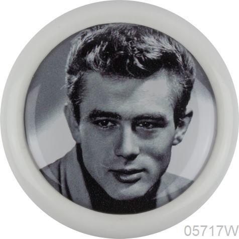 Céramique Meubles Bouton 05717W Blanc _ f de Célébrités 188–James Dean–Motifs avec promineten, Show Business, dessins animés–100% fabriqué en Allemagne