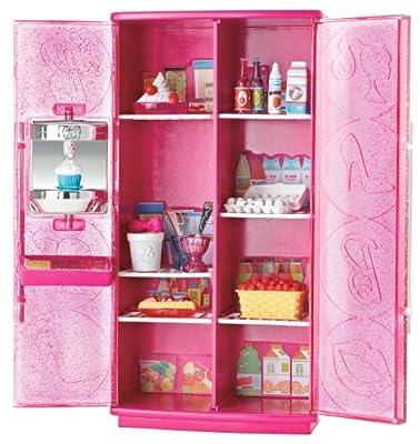 T9081 Mattel - Barbie muebles: heladera con helado soft de Mattel