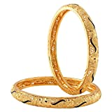 Fashionaya Gold Plated Brass Bangles for...