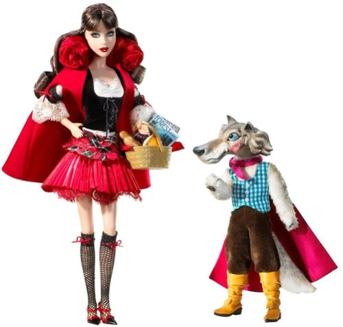 Barbie Collector 2008 Silver Label - Pop Culture Dolls Collection - Little Red Riding Hood and the Wolf Giftset -