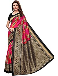 f0f6c68a21559 ANNI DESIGNERCotton Saree with Blouse Piece (Gully Boy Pink Sky Blue Free  Size)