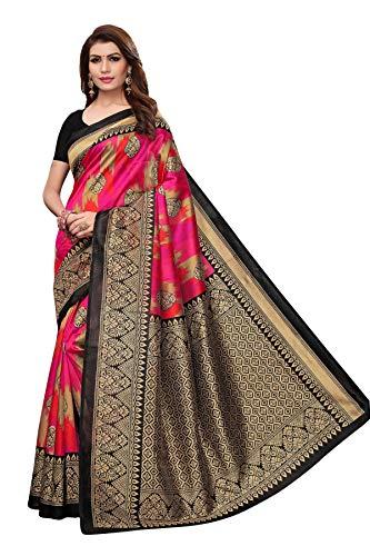 Anni Designer Cotton Saree with Blouse Piece (Raja sky Pink border_Sky Blue_Free Size)