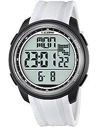 Calypso UK5704/5 - Reloj de pulsera deportivo (para hombre, digital, correa de poliuretano, cuarzo), color de la correa amarillo y color de la esfera negro
