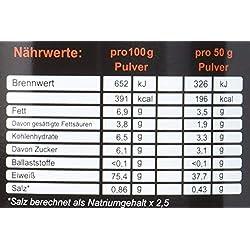ZerOne Whey Protein Eiweißpulver | Natürliche Zutaten | hochwertiges Proteinpulver | Low Carb Eiweiß-Shake | Muskelaufbau Fitness Training | 1000g (White Chocolate) …