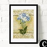 HY&GG Moderne, Einfache Dekorative Malerei Von Wohnzimmer Restaurant Wandmalereien Von Wunderschönen Bunten Blumen Bilder, 12 X 16, Hellgrau