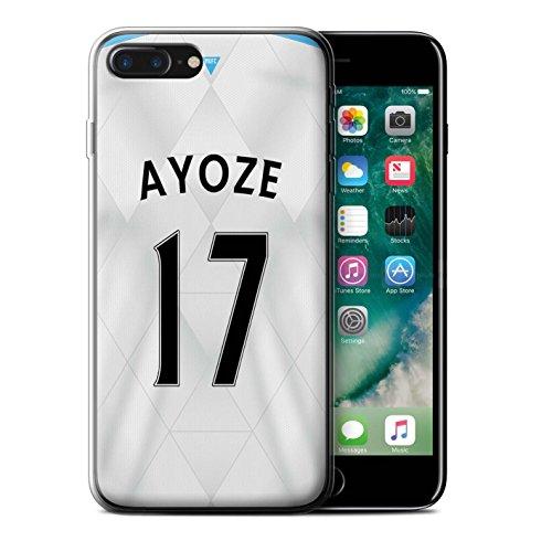 Officiel Newcastle United FC Coque / Etui Gel TPU pour Apple iPhone 7 Plus / Pack 29pcs Design / NUFC Maillot Extérieur 15/16 Collection Ayoze