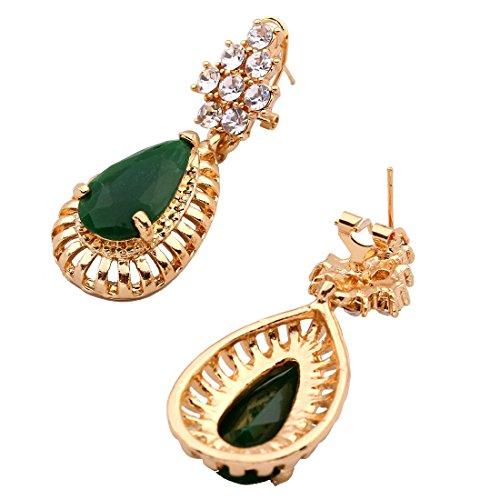 QIYUN.Z Kette Anhänger Gold Frauen Kette Collier Harz Schmuck Ohrring Armbandring - 5
