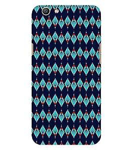 HiFi Designer Phone Back Case Cover Oppo F1s :: Oppo A59 :: Oppo F1s Selfie Expert ( Blue Pattern Design )