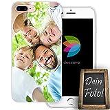 dessana Eigenes Foto Transparente Schutzhülle Handy Tasche Case für Apple iPhone 8 Plus
