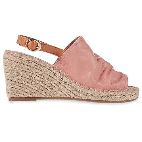 Marks & Spencer M&S Collection T022947 Leather Wedge Heel Vamp Espadrilles Sandals...