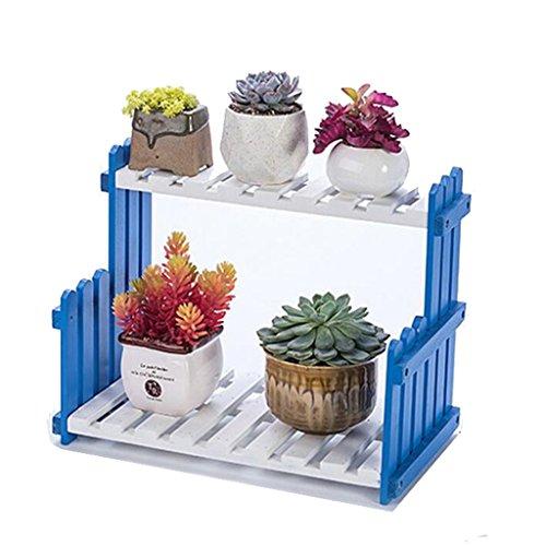 Aidelai stand di fiori scala balcone ripiano per fiori soggiorno fioriera in legno a più piani ripiano per fiori in legno (dimensioni : 40cm)