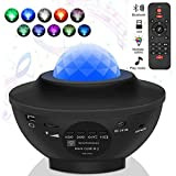 Starry Sky Projector, LED Projector Starry Sky Lamp with Remote Control Starry Star Moon/Water Wave Wave Effect/Bluetooth Spe